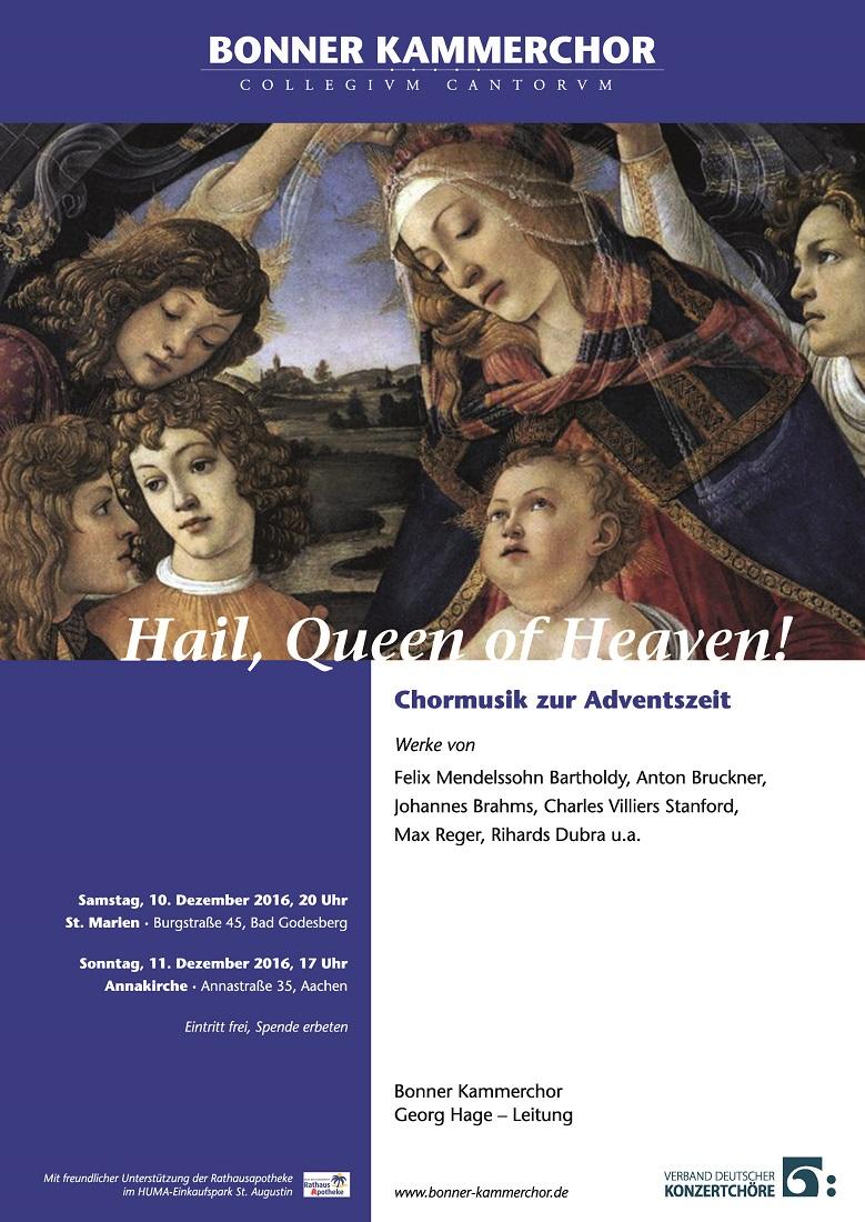 Plakat Bonner Kammerchor
